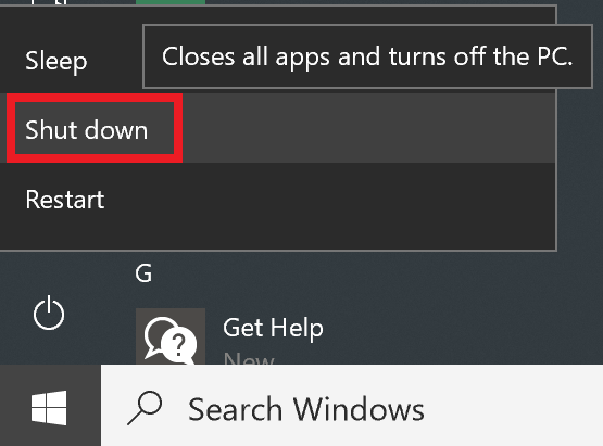 How to shut down, restart, put to sleep and hard reboot your