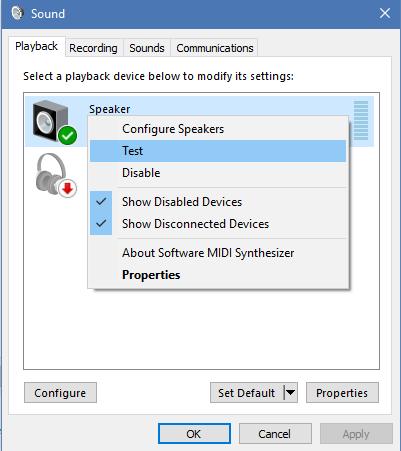 Resolving Sound Problems (Windows 10) – PALCS HelpDesk